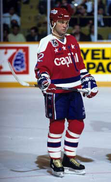 Dino Ciccarelli with the Washington Capitals.