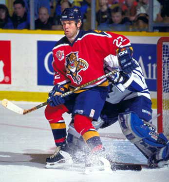 As a member of the Florida Panthers, Dino Ciccarelli scored his 600th career NHL goal.