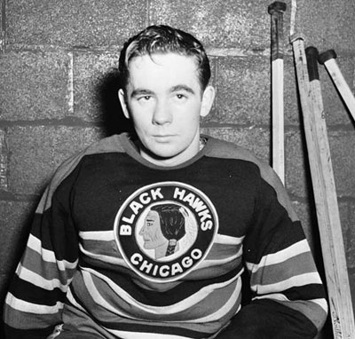 Emile Francis during his playing days with the Chicago Blackhawks