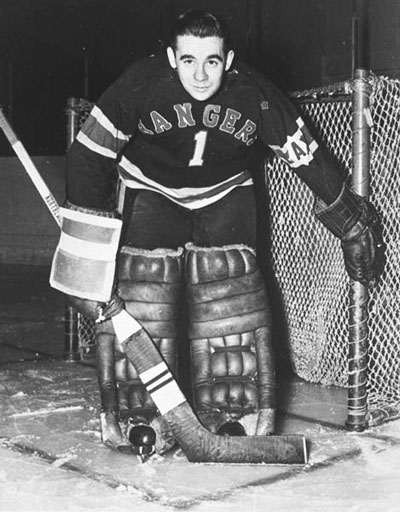 Emile Francis as a member of the New York Rangers