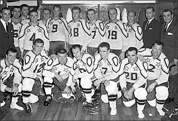 Dough Harvey (Bottom row #2) with the 1962 NHL All-Star team