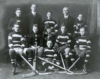 Aurele Joliat (2nd row-middle) helped lead this Ottawa based team to a city championship.