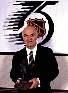 Lamoriello was the recipient of the Lester Patrick Trophy in 1992