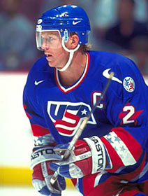 Brian Leetch represented the U.S. on several occasions