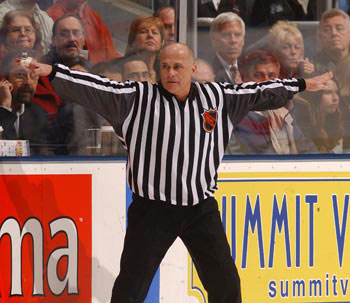 Through 33 years as an NHL official, Ray Scapinello never missed an assignment