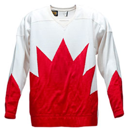Jersey worn by Canada's Rod Seiling during the 1972 Summit Series against the Soviet Union.