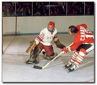 Vladislav Tretiak stunned Canadians with his outstanding goaltending for the Soviet Union during the Summit Series in 1972.