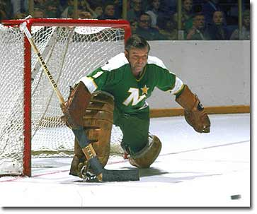 Gump Worsley playing with the Minnesota North Stars