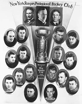 Frank Boucher scored the Cup winning goal against the Montreal Maroons to lead the New York Rangers to the 1933 Stanley Cup Championship
