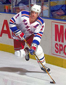 Leetch led the Rangers in scoring in the Stanley Cup Final, scoring 5 goals and 6 assists for 11 points