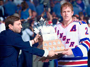 Brian Leetch was awarded the Conn Smythe Trophy in 1994 after helping lead the New York Rangers to the Stanley Cup title