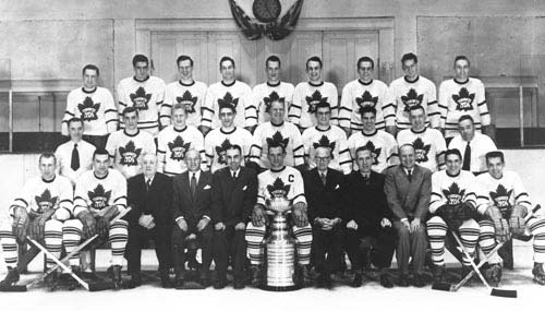 The 1951 Stanley Cup Champion Toronto Maple Leafs Imperial Oil Turofsky HHOF
