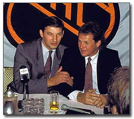 Vladislav Tretiak's was inducted into the Hockey Hall of Fame in 1989 along with Darryl Sittler.