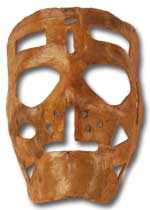 Sawchuk's famed mask worn during his 21-year NHL career.