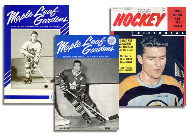 'Maple Leaf Gardens' and 'Hockey Pictoral' programs featuring Allan Stanley