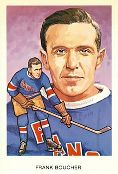 Hockey Hall of Fame postcard of Frank Boucher