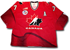 Paul s Team Canada jersey worn during the 1996 World Cup of Hockey  championship. He led all players with seven assists. 297d9ed81