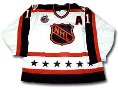 dd1b8b2db Mike Gartner s Wales Conference jersey worn during the 1993 NHL All-Star  Game held in Montreal