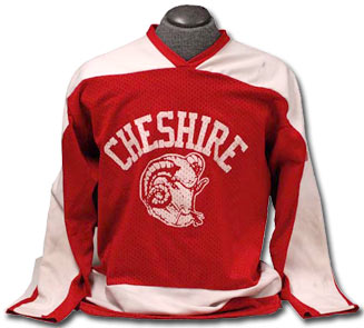 Cheshire High School jersey worn by Brian Leetch in 1983-84