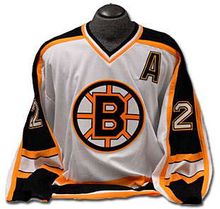 Boston Bruins jersey worn by Brian Leetch during his final NHL season in 2005-06