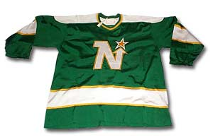 Gump Worsley's Minnesota North Stars' jersey from his 1973-74 season