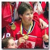 Nancy Drolet was a member of Canada's World Championship teams in 1992, '94, '99, '00 and '01.