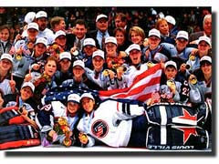 USA Winners of the Women's Hockey 1998 Olympic Gold medal