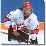 Canada's captain at the 2002 Olympic Games, Cassie Campbell