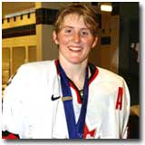 Hayley Wickenheiser ranks first all-time in Olympic and World Championships scoring.