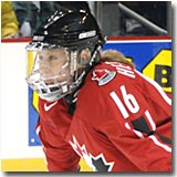 Jayna Hefford was Canada's leading scorer at the 99' and 00' Worlds