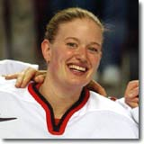 Sami Jo Small was twice recognized as the World Championships'top netminder in '99 and '00